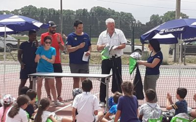 Tournoi de tennis et récompenses pour les jeunes licenciés du club